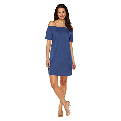 TWO by Vince Camuto Off the Shoulder Easy Knit Dress (Indigo Heather) Women