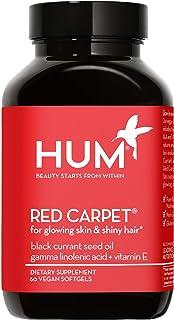 HUM Red Carpet - Vegan Omega 3/6 for Glowing Skin & Shiny Hair (60 Vegan Softgels)