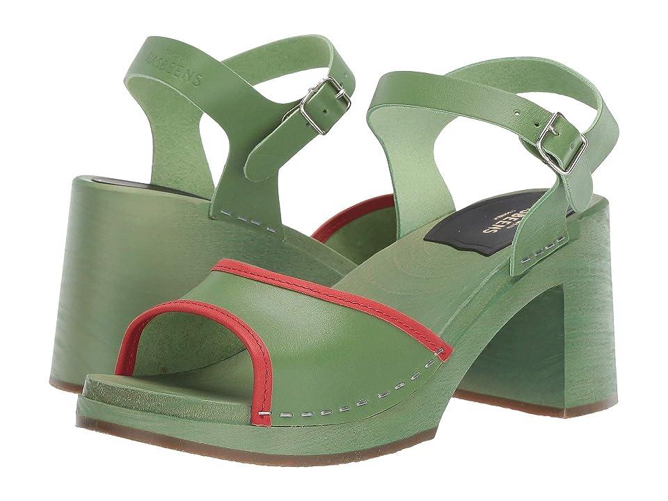 Vintage Sandals | Wedges, Espadrilles – 30s, 40s, 50s, 60s, 70s Swedish Hasbeens Inger RedGreen Womens Dress Sandals $239.00 AT vintagedancer.com