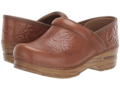 Dansko Embossed Pro (Tan Burnished Calf) Women