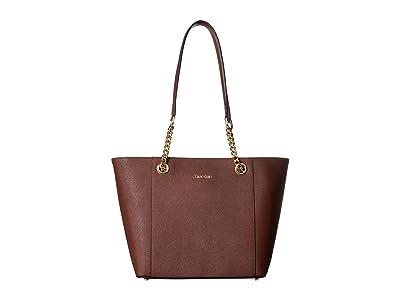 Calvin Klein Saffiano Tote (Walnut) Tote Handbags