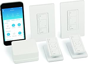 Lutron Caseta Wireless Smart Light Dimmer Switch (2 Count) Starter Kit with Pedestals for Pico Wireless Remotes, Works with Alexa, Apple HomeKit, and the Google Assistant | P-BDG-PKG2W