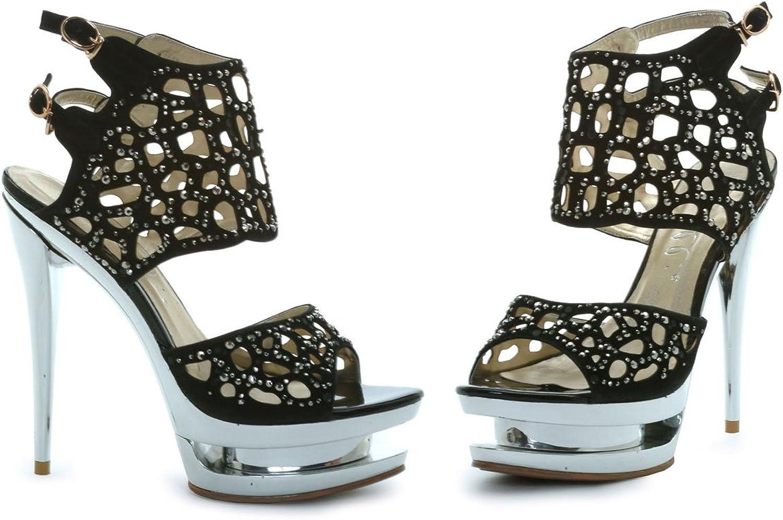 ELLIE 603-KYLIE WOMEN 6  Heel Sandal.