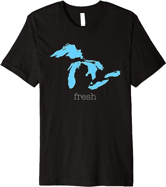 Tenacitee Girls Living in Indiana with Michigan Roots Hooded Sweatshirt