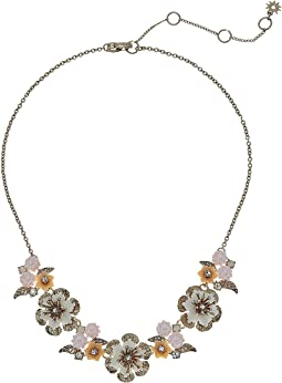 Marchesa - Force of Nature 16 in Front Flower Necklace