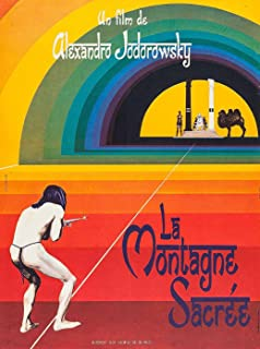 THE HOLY MOUNTAIN Movie Poster RARE European Version Alejandro Jodorowsky 47x32inch