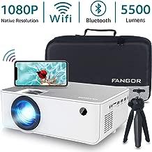 """1080P HD Projector, WiFi Projector Bluetooth Projector, Fangor 5500 Lumen 200"""".."""