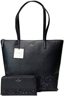 Kate Spade New York Greta Court Penny WKRU5613 Bundled with Matching Neda Wallet WLRU5217 (Black)