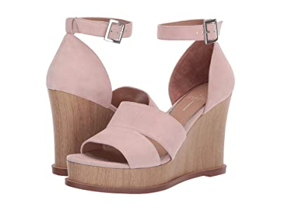 LINEA Paolo Emma Wedge Sandal (Blush Suede) Women