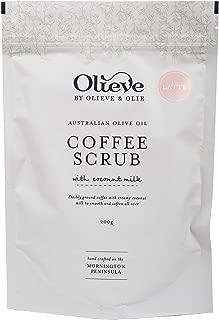 Olieve & Olie Organic Coffee Scrub with Coconut Milk (Latte)