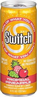 The Switch Sparkling Juice, Tropical Pineapple, 8- Fl. Oz Cans (Pack of 24)