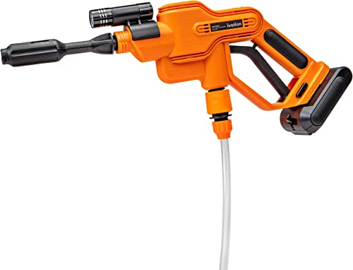 popular Ivation Cordless Portable Power Washer 290 PSI Pressure Cleaner, 2500mAh Battery Powered Sprayer Gun lowest with 16.4' Water Hose, wholesale Adjustable Water Flow Nozzle, Carrying Case & Flashlight sale