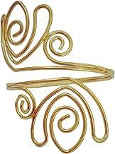OCTCHOCO Fashion Flower Curve Gold Silver Filigree Swirl Adjustable Arm Bracelet Bangle Upper Arm Cuff Armlet