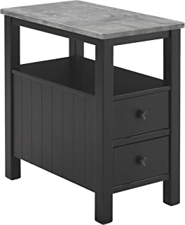 Signature Design by Ashley Ezmonei Chair Side End Table Black/Gray