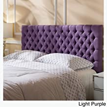 Queen Size Tufted Headboard, Upholstered Accent Contemporary Headboard for Metal Bed Frame (fits Full and Queen Size beds) (Light Purple)