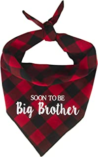 Willowear Soon to be Big Brother Soon to be Big Sister Baby Pregnancy Announcement Gender Reveal Puppy Dog Pet Bandanas
