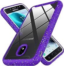 AZHEPU Galaxy J7 2018 Case,J7 Crown/J7 Star/J7 Refine/J7 Aero/J7 Aura/J7 Top/J7 Eon Clear Case, Shock Absorption Build-in Durable PC Frame Bumper Protective Case for Samsung J7 V 2018 (Purple/Clear)