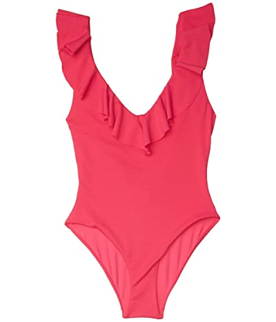 Eberjey Pique Loreta One-Piece (Beetroot) Women
