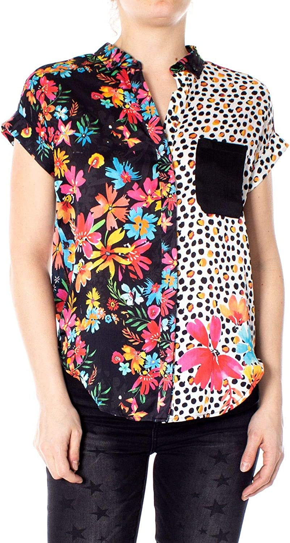 Desigual Women's 19SWCW94BLACK Black Polyester Shirt