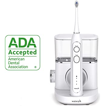 Waterpik Sonic-Fusion Professional Flossing Toothbrush, Electric Toothbrush & Water Flosser Combo in One, SF-02 White