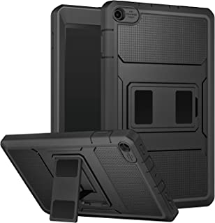 MoKo Case for All-New Amazon Fire HD 8 Tablet (7th and 8th Generation, 2017 and 2018 Release) - [Heavy Duty] Shockproof Full Body Rugged Cover Built-in Screen Protector for Fire HD 8, Black
