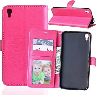 IDOL 3 Case ALCATEL ONE TOUCH IDOL 3 Wallet Case,Bat King [Stand Function][3 Credit Cards Slot][Cash Pockets] Premium Leather Flip Cover Wallet Case for for ALCATEL ONE TOUCH IDOL 3 5.5 inch(Hot Pink)
