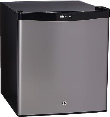 Hisense RR16D6ALX Frigobar 1.6 p3, color Silver, 1.6 PIES CUBICOS