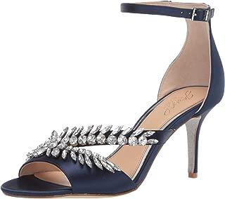 Women's KAILEE Sandal, navy satin, 7.5 M US
