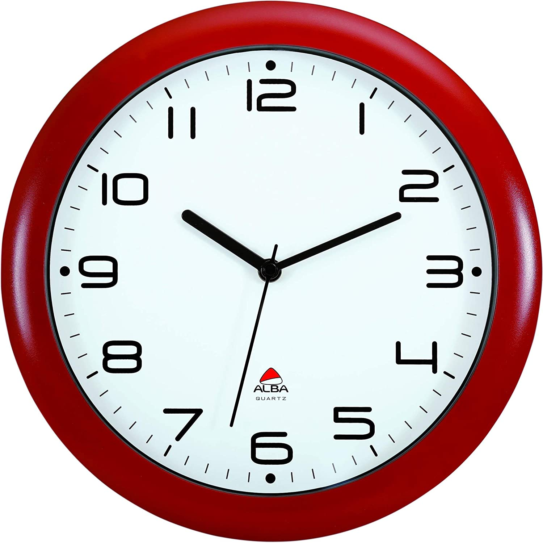 Alba HORNEW BC Quartz Horloge Silencieuse Blanc 30 x 5,5 x 30 cm