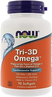 Now Foods, (3 Pack) Tri-3D Omega, 330 EPA/220 DHA, 90 Softgels