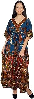 RADANYA Paisley Print Long Kaftan Maxi Dress Womans Summer Holiday Beach Kaftan