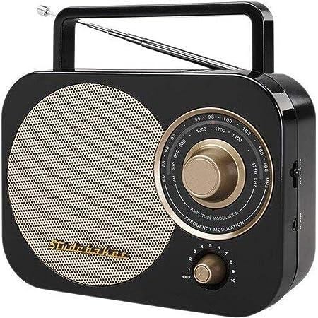 Studebaker Portable AM/FM Radio, Black (SB2000BG)