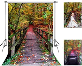 FUERMOR Forest Wood Bridge Photo Backdrop 5x7ft Beautiful Scenery Background Video Events Photography Props FANGFU035