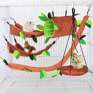 tunnel 5 pcs rat cage accessories rat hammock set sugar glider hammocks degus cube