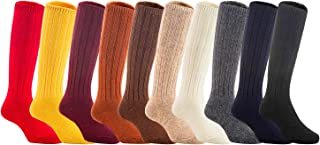 Lian LifeStyle Unisex Baby Children 4 Pairs Knee High Wool Blend Boot Socks 3 Sizes 13 Colors