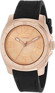 Tommy Hilfiger  Women's 1781149 Sport Rose Gold and Black Silicon  Watch