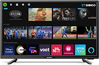 Shinco 80 cm 32 Inches HD Ready Smart LED TV SO32SF Black 2021 Model with Alexa Built in