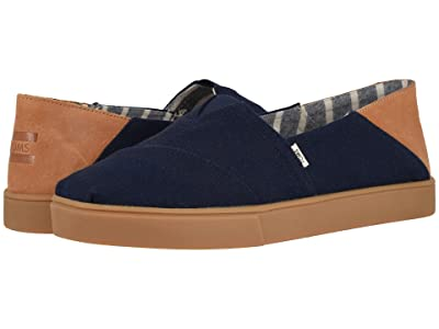 TOMS Alpargata Convertible Cupsole (Navy Textured Twill Convertible Cupsole) Men