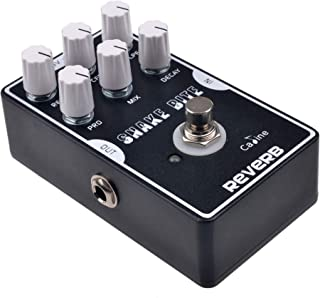 Caline Digital Reverb Pedal Guitar Effects Pedal True Bypass with Aluminum Alloy Housing CP-26 Snake Bit, Black