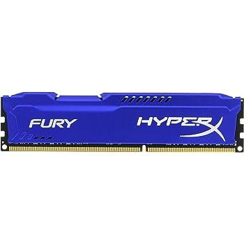 HyperX HX318C10F/8 Fury 8 GB, 1866 MHz, DDR3, CL10, UDIMM, 1.35V, Blu