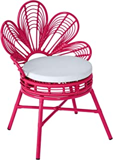 BrylaneHome All-Weather Flower Chair - Pink