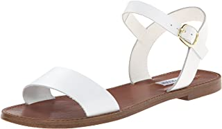 Steve Madden Women's DONDDI Sandal, White Leather, 8.5 M US