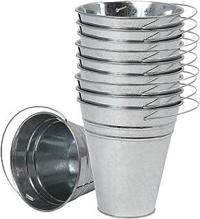Houseables Galvanized Buckets, Metal Planter Pail, 4.5