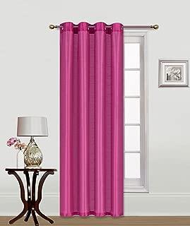 Sapphire Home (2 Panels Grommet Faux Silk Satin Blackout Window Curtain Panels 84