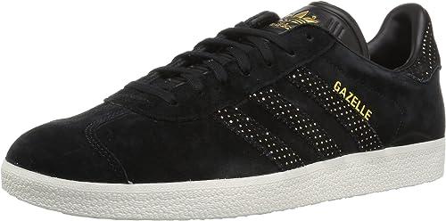Adidas Originals Wohommes Gazelle W paniers, noir or Metallic, 11 M US
