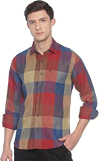 Linen Club Multi Checked Casual Regular Fit Linen Shirts for Men