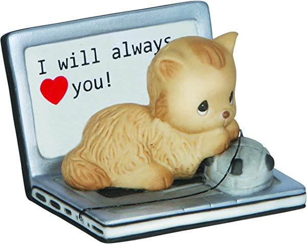 Precious Moments I Will Always Love You Porcelain Figurine Cat 142005