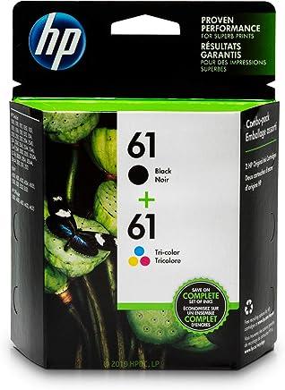 HP 61 Black Ink Cartridge (CH561WN), HP 61 Tri-Color Ink Cartridge (CH562WN), 2 Ink Cartridges (CR259FN) for HP Deskjet 1000 1010 1012 1050 1051 1055 1056 1510 1512 1514 1051 2050 2510 2512 2514 2540