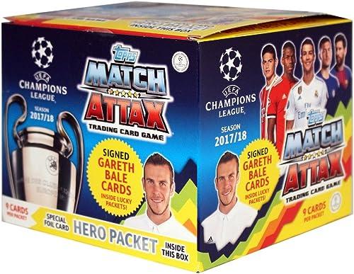 A la venta con descuento del 70%. Topps UEFA Champions League temporada 17 18 - PanTalla con con con 50 cartas Booster 9 = 450 cartas en total  Envío y cambio gratis.