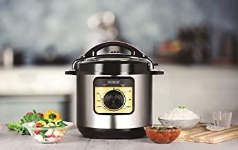 Clearline Appliances 6 Litre Electric Pressure Cooker with Multiple Safety Functions